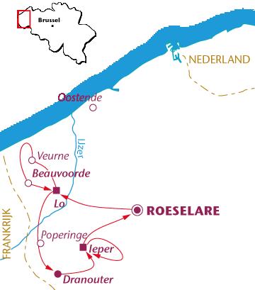 Routekaartje Vlaanderen