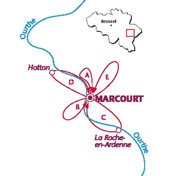 Routekaartje Marcourt-en-Ardenne