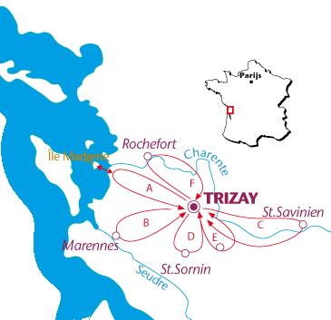 Routekaartje Trizay