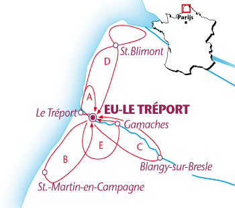 Routekaartje Eu - Le Tréport