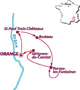 Routekaartje Provence Culinair