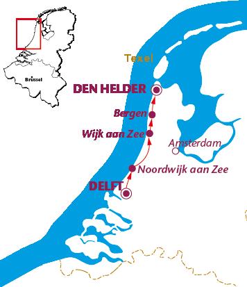 Routekaartje Langs de Noordzee