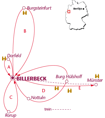 Routekaartje Billerbeck