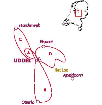 Routekaartje Uddel