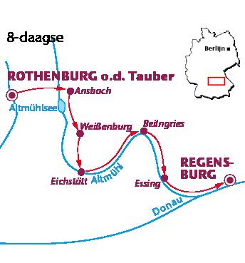 Routekaartje Altmühltal