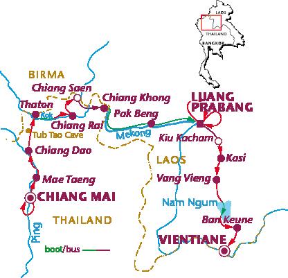 Routekaartje Langs de Koningssteden