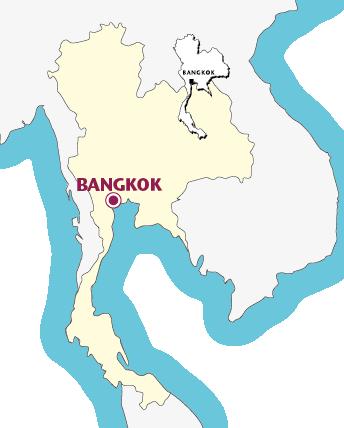 Routekaartje Verlenging Bangkok