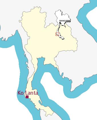 Routekaartje Verlengingsweek Ko Lanta (Krabi)