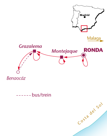 Routekaartje Andalusië