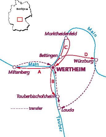Routekaartje Wertheim
