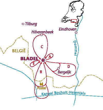 Routekaartje Bladel