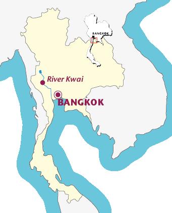 Routekaartje Verlenging River Kwai