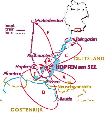 Routekaartje Hopfen am See