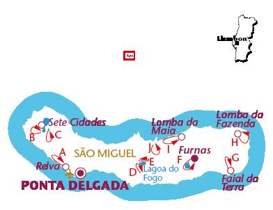 Routekaartje São Miguel