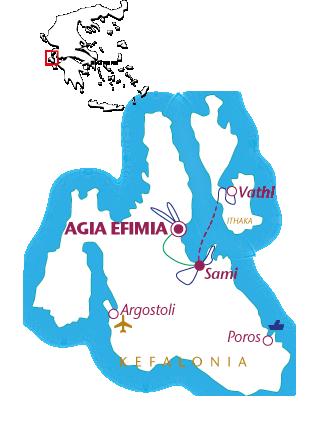 Routekaartje Kefalonia