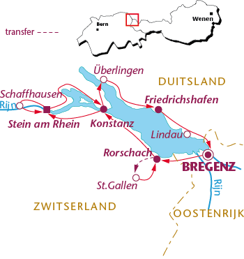 Routekaartje Langzame Bodensee