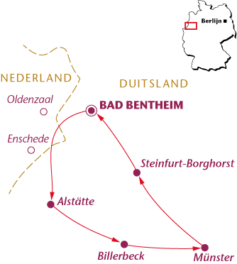 Routekaartje Münsterland