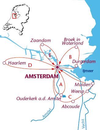 Routekaartje Amsterdam