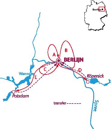 Routekaartje Berlijn
