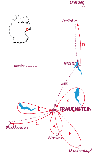 Routekaartje Frauenstein