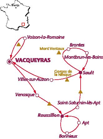 Routekaartje Provence