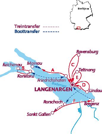 Routekaartje Langenargen