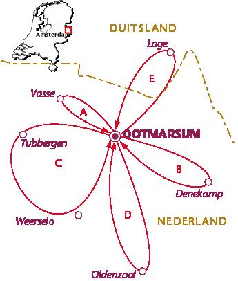 Routekaartje Ootmarsum