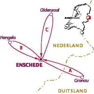 Routekaartje Enschede