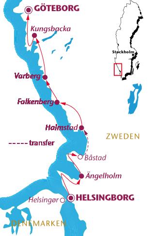 Routekaartje Kattegattleden