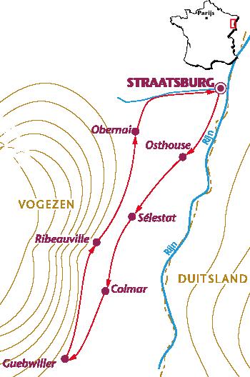 Routekaartje Elzas