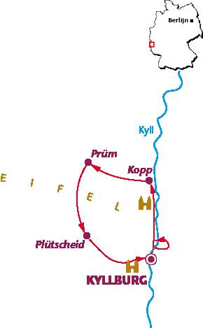 Routekaartje Eifel