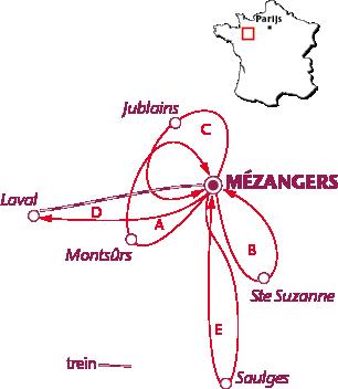 Routekaartje Mézangers